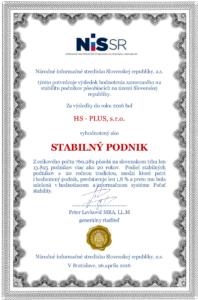 Protokol o získaní Pečate stability 2016